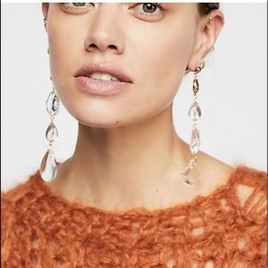 Free People Hanging Earring Clear Asymmetric